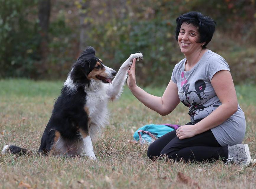 Monica Michiardi, Coadiutore del Cane e animali d'affezione, con Maya